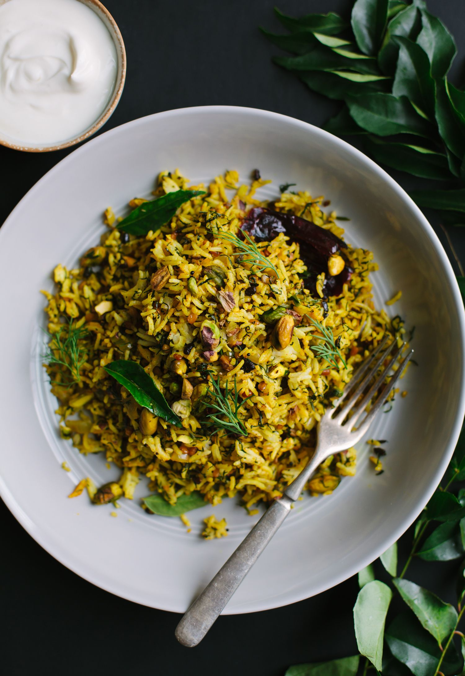 Lime And Dill Rice With Pistachios From Vibrant India