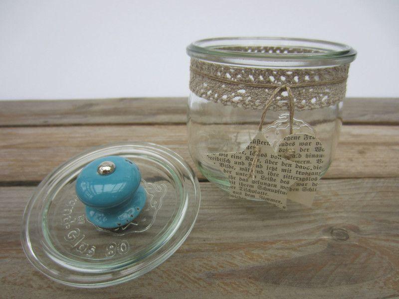 Vorratsdosen keksglas weckglas zuckerdose ein designerst ck von uccello piccolo bei - Mobelknopfe glas ...