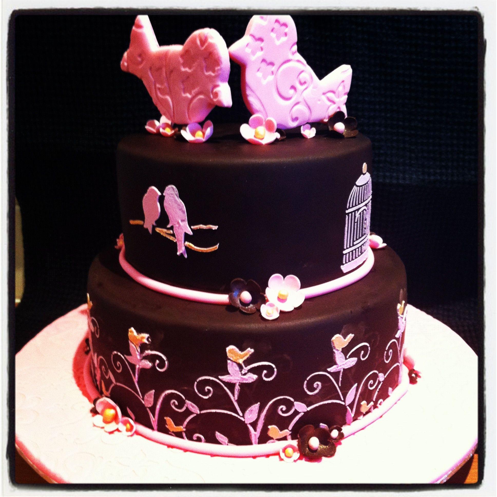 My daughters 10th birthday Chocolate mud cake with chocolate fondant