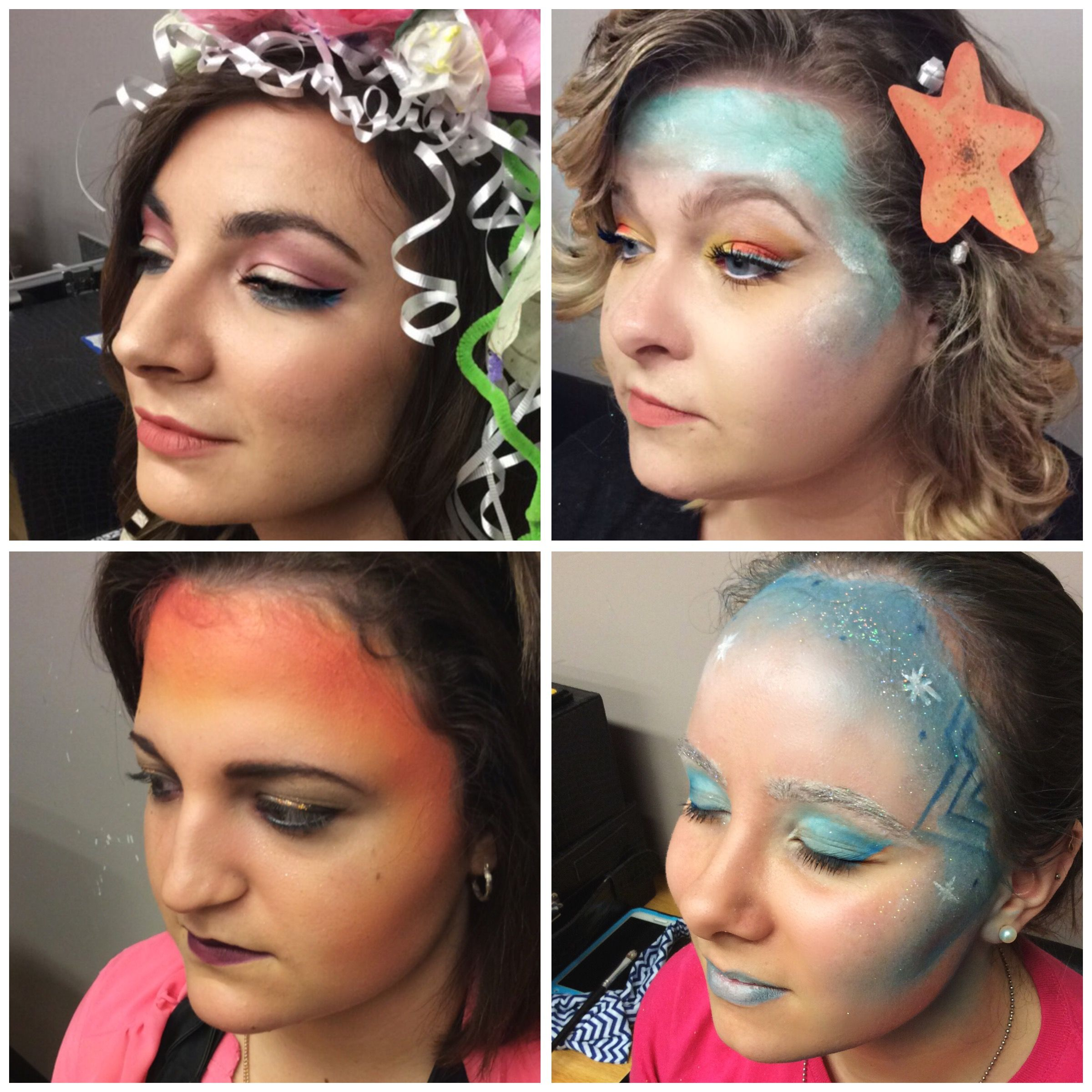 The four seasons makeup look summer spring autumn and