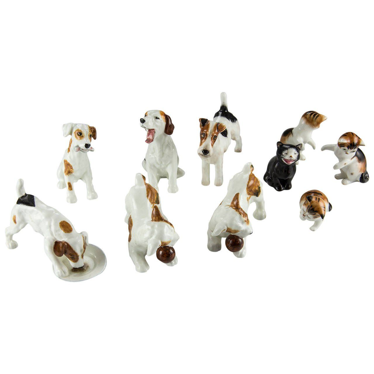 Royal Doulton Collection of Ten Dogs and Cats Porcelain