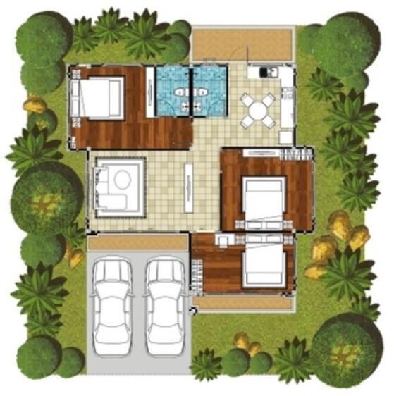 Denah rumah sederhana 3 kamar tidur house plan pinterest house denah rumah sederhana 3 kamar tidur malvernweather Gallery