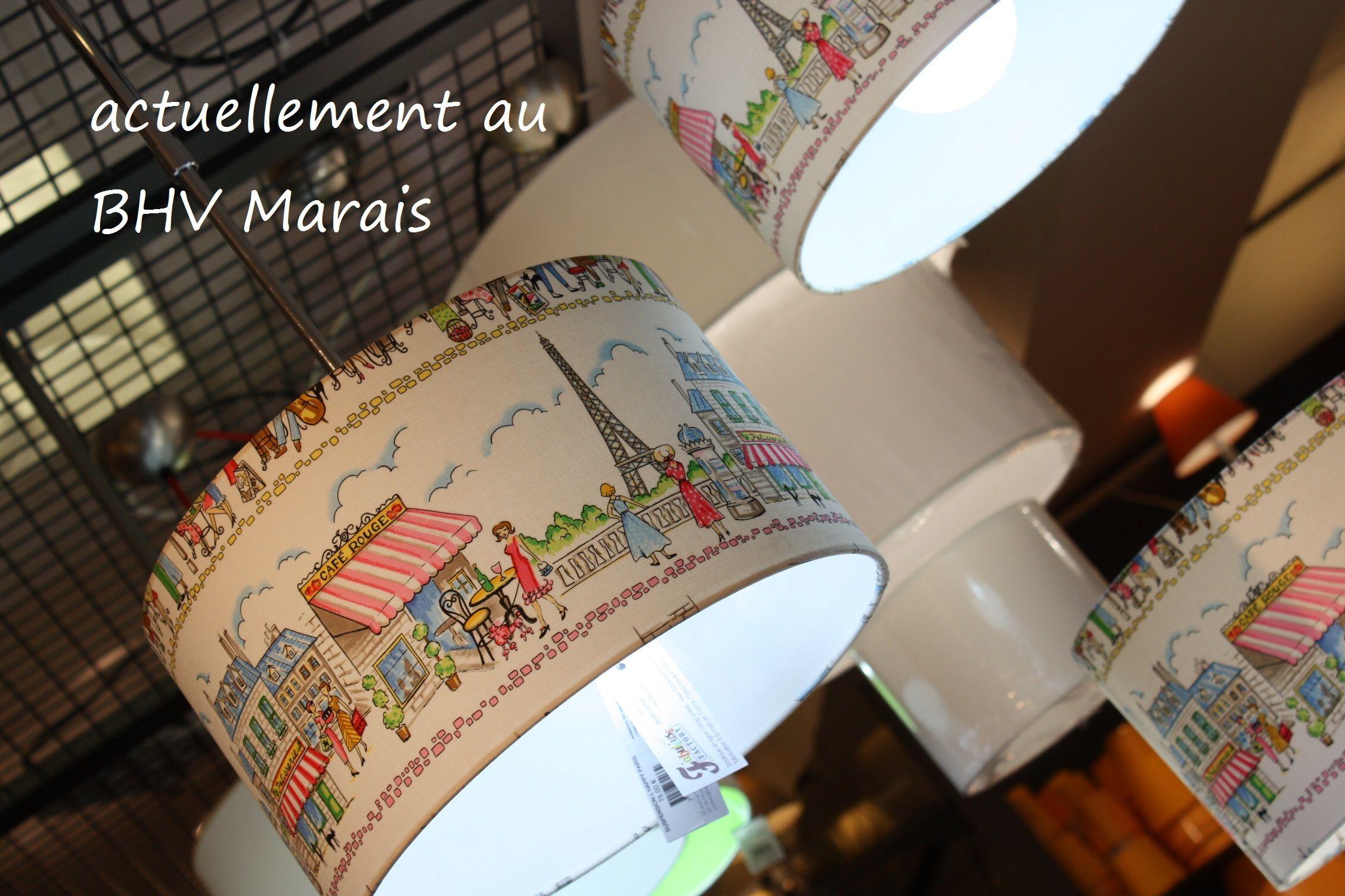 collection de luminaires en tissu happy paris par fabuleuse factory bhv marais paris with bhv. Black Bedroom Furniture Sets. Home Design Ideas