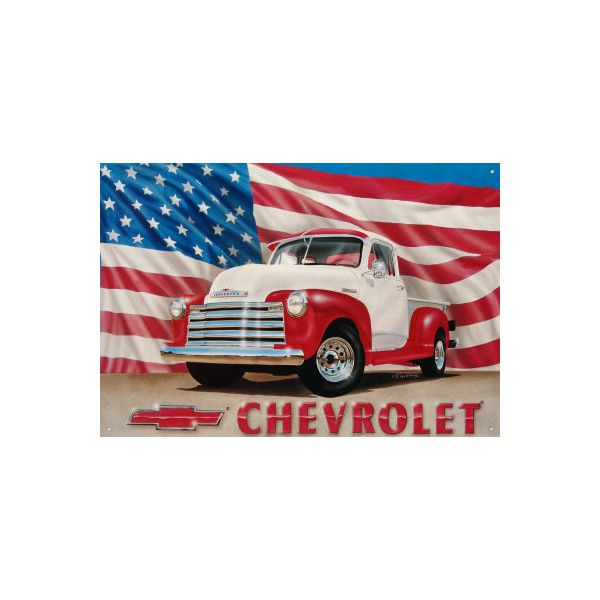 Superbe Chevy U002751 Pick Up Tin Sign Wall Art ($7.79) ❤ Liked On Polyvore · Americana Home  DecorCar ...