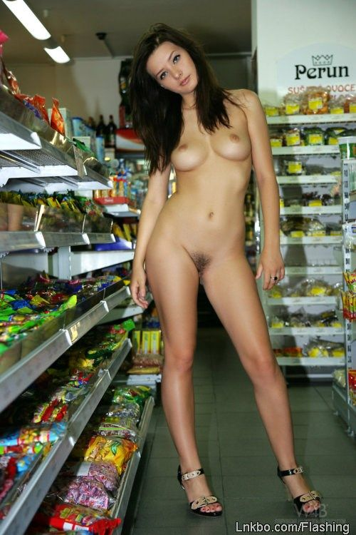 Hot girls naked in grocery store