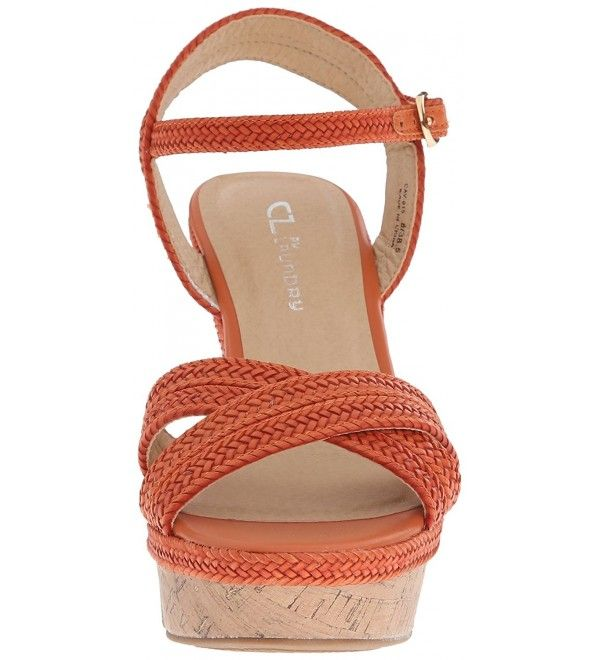 ba4334054f8 Women s Clara Wedge Sandal - Orange Braid - C4120SLC15T