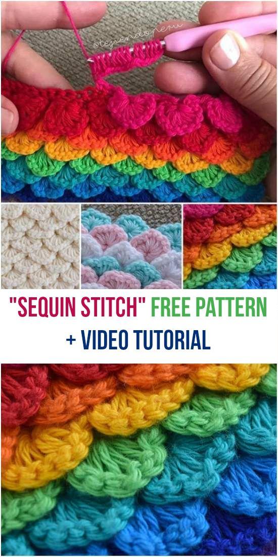 Sequin Stitch [Free Crochet Pattern + Video Tutorial] Crocheting ...