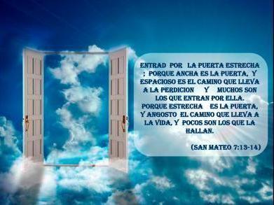 La puerta estrecha | Frases reflexion, Puertas, Vida