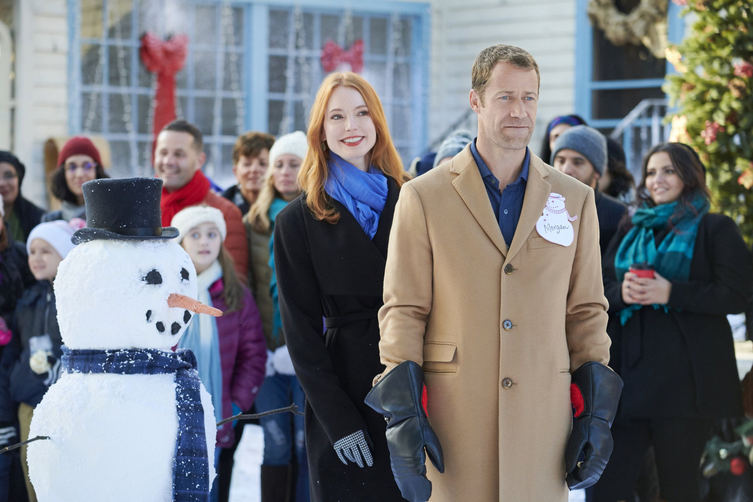 "Check out photos from the Hallmark Movies & Mysteries original movie ""Christmas on Honeysu ..."