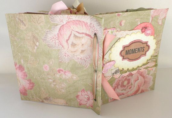 Shabby chic mini albumScrapbook mini album6x6 by sweetpaperlife