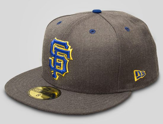 5cae0ddb Graphite SF Giants 59Fifty Fitted Cap by UPPER PLAYGROUND x NEW ERA x MLB