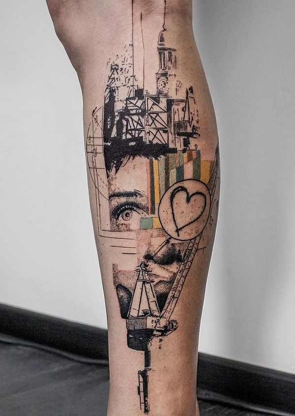 50+ Amazing Calf Tattoos | Calf tattoos, Illustration ...