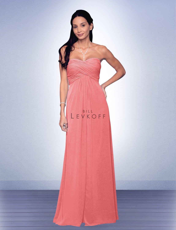 9af2e33e3a7 Bill Levkoff Bridesmaid Dress Style 537 Coral