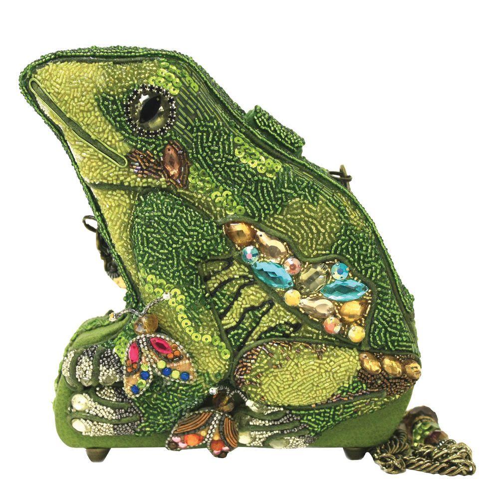 "Mary Frances Bags Resort 2014 ""Green w Envy"" Frog Bag"