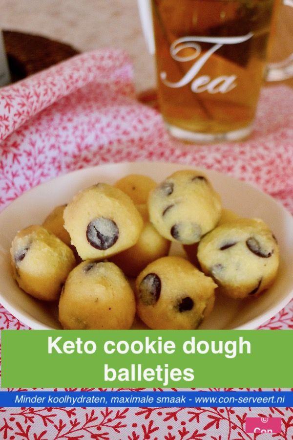 Cookie dough balletjes , koolhydraatarm, ketogeen - Con-serveert
