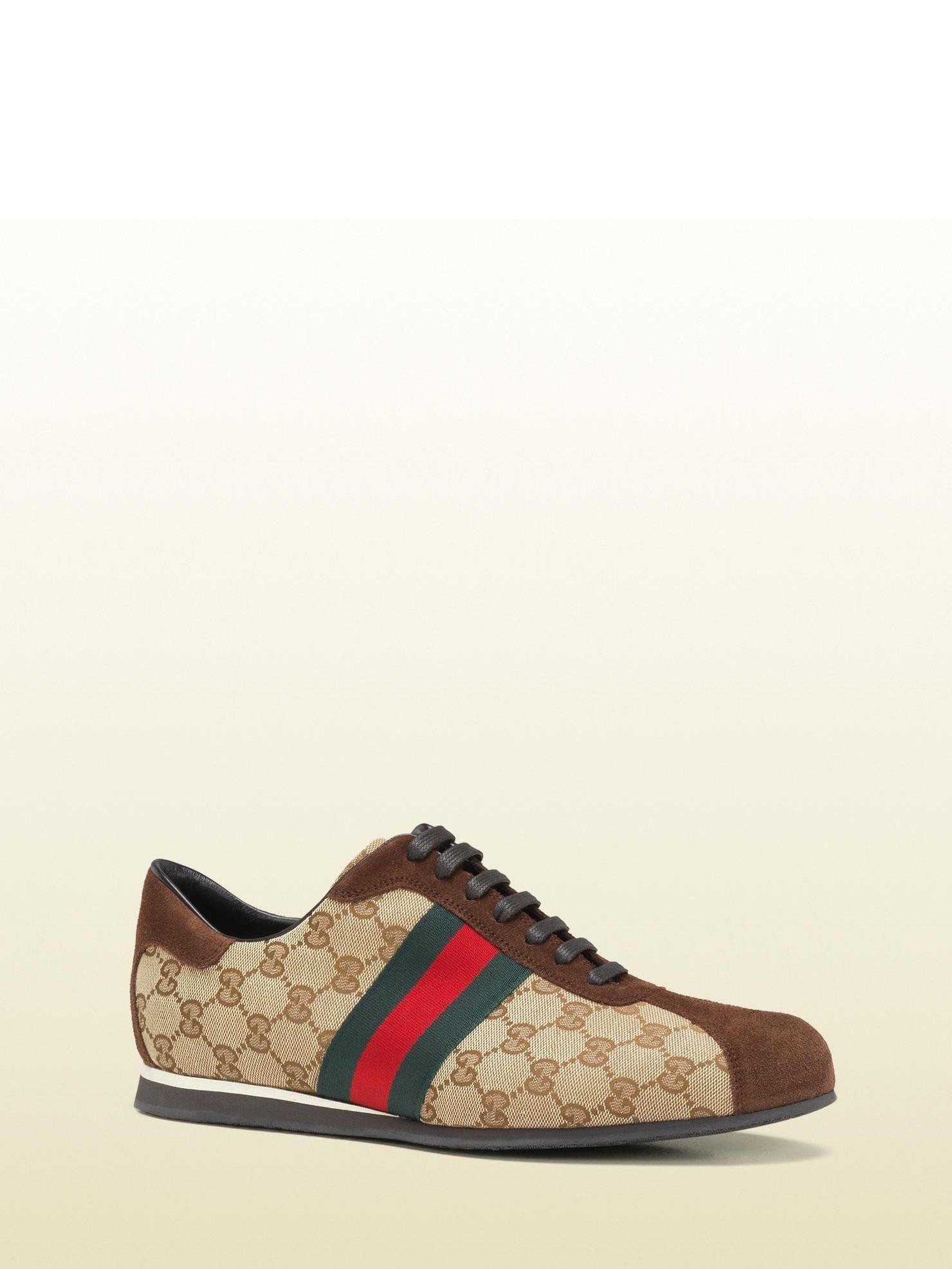 Original GG and suede Web sneaker - Brown Gucci rOWebMAL8