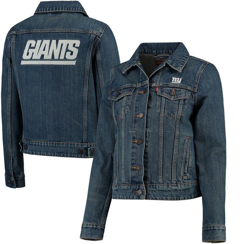 Levi's Sports Full Women's Giants York Denim New Trucker Button aIEFx7qUwO