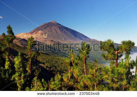 El Teide National Park, Tenerife, Canary Islands, Spain  - stock photo