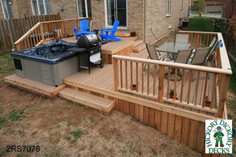 This Deck Plan Is For A Large Two Level