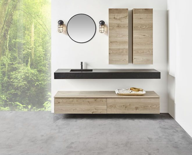 Spiegel Met Lampen : Badkamermeubel detremmerie met industriele lampen en spiegel