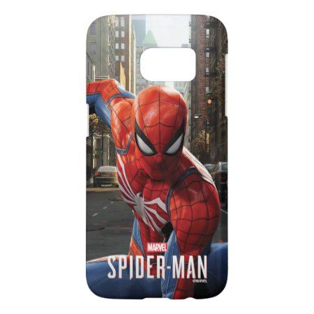 Marvel's Spider-Man | Three Point Landing Samsung Galaxy S7 Case - tap, personalize, buy right now! #SamsungGalaxyS7Case  #marvel #gamerverse #spiderman #video #game