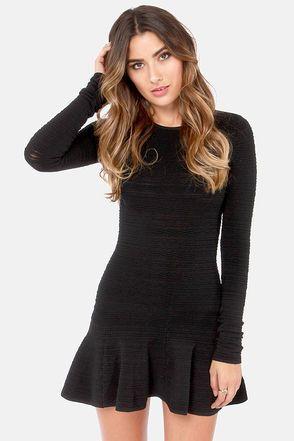 Swinging Sixties Black Mini Dress | Fasching