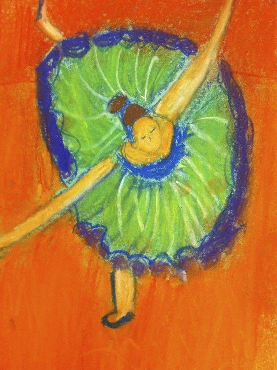 Sixth Grade Upper Primary Oil Pastel Figures Degas Fifth Grade