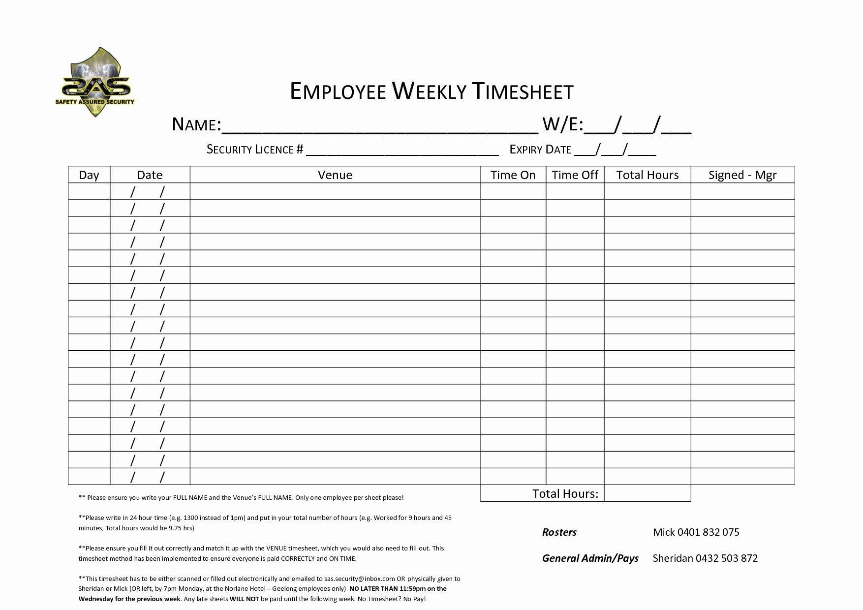Unique Multiple Employee Timesheet Xls Xlsformat Xlstemplates