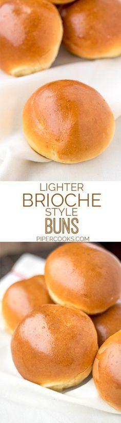 Quick & Light Brioche Style Buns  - Breads & rolls -