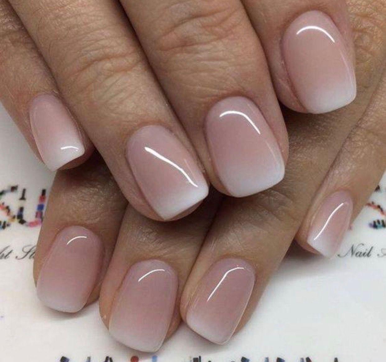 ideal understated wedding manicure