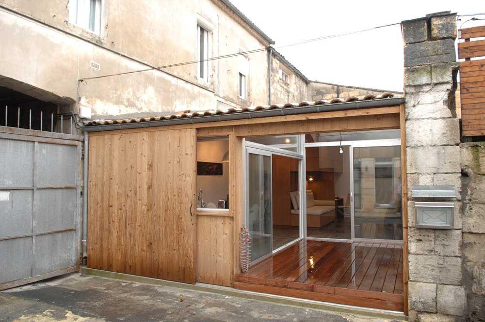Maison garage Petit espace optimisé pratique Bois box Inspiration - construire son garage en bois