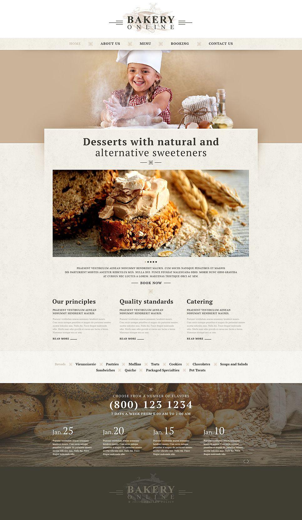Bakery Responsive Website Template 52920 Website Template Responsive Website Template Bakery Website