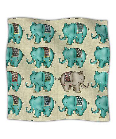"This 30"" x 40"" Blue Dreamy Ellie Fleece Blanket by KESS InHouse is perfect! #zulilyfinds"