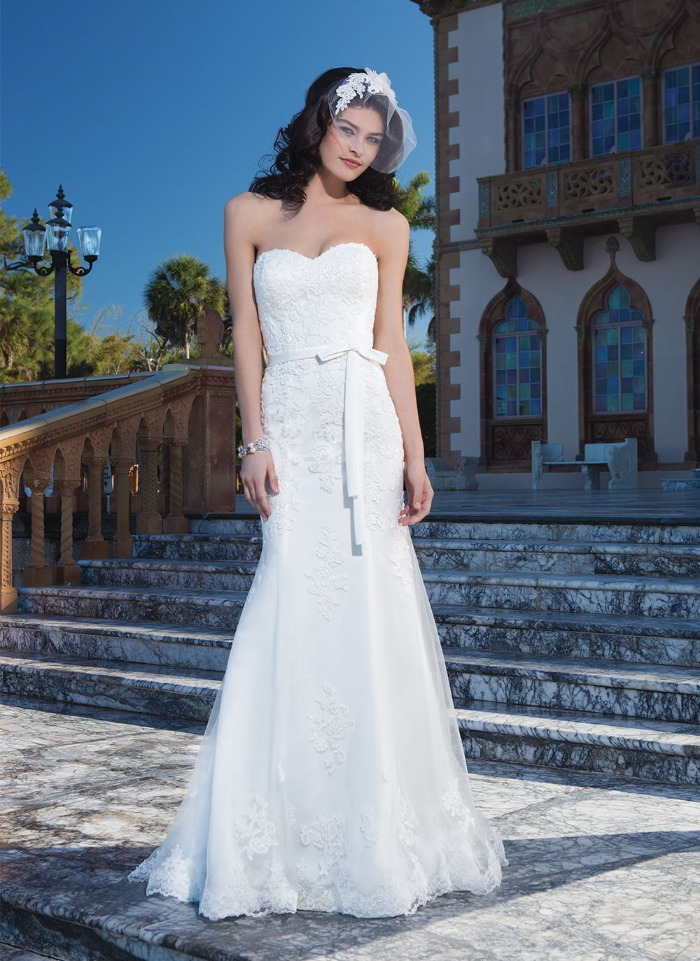 Sincerity wedding dress style 3850 Tulle, corded lace fit and flare ...