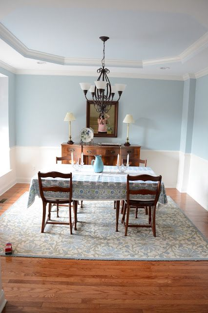 Our Dining Room Walls Are Benjamin Moore Smoke, Ceiling Is Benjamin Moore  Iceberg