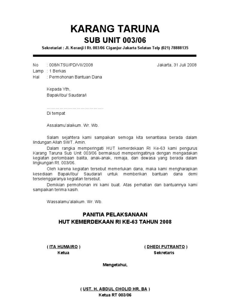 Contoh Proposal 17 Agustus Terbaru