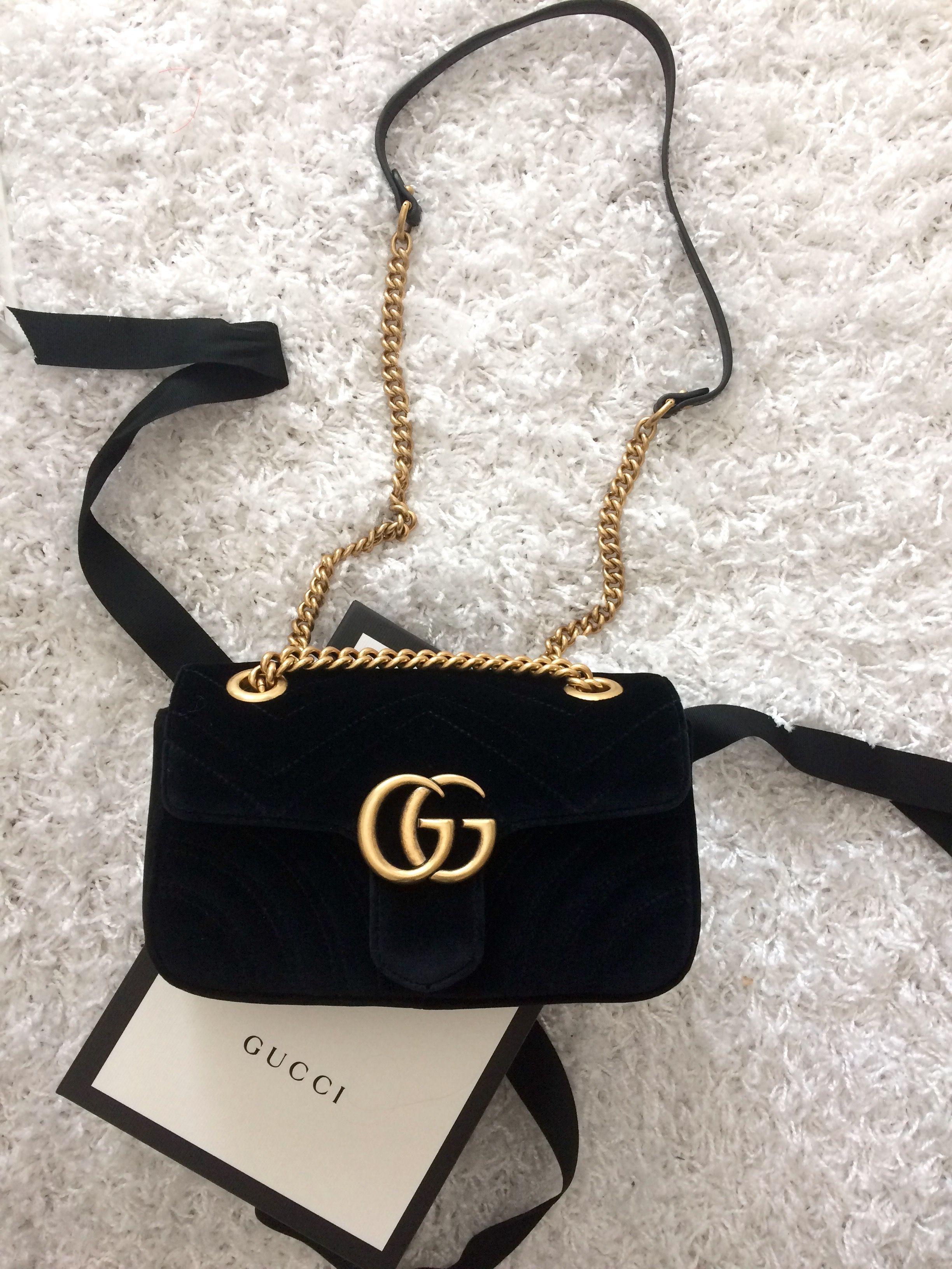 07c77739e381 Gucci Marmont velvet mini bag #women'sdesignerhandbagsbrands   Women ...
