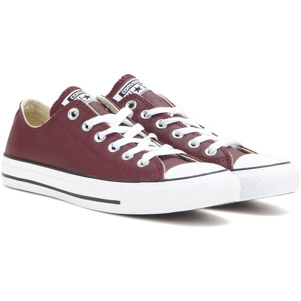 CONVERSE ALLSTAR Red Leather Baskets New NOUVEAU