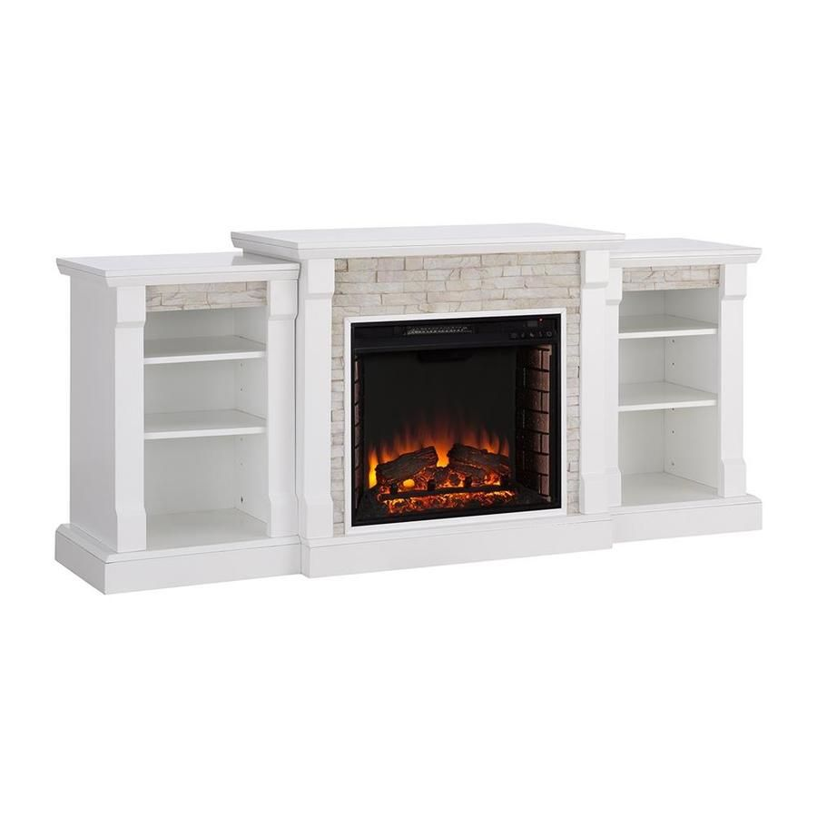 Boston Loft Furnishings 71 75 In W White Fan Forced Electric Fireplace Atg6258ef In 2020 Electric Fireplace Stone Electric Fireplace Home