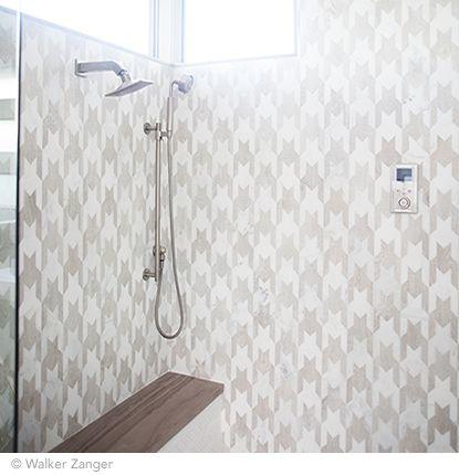 Cool Shower Tile Unique Pattern Shower Tile Houndstooth Pattern