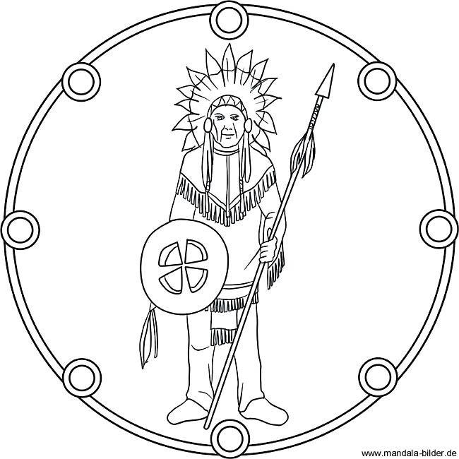Ausmalbilder Indianer Mandala Mandala