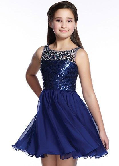 Lexie By Mon Cheri Tw21542 Girls Sparkly Sequin Dress -7339