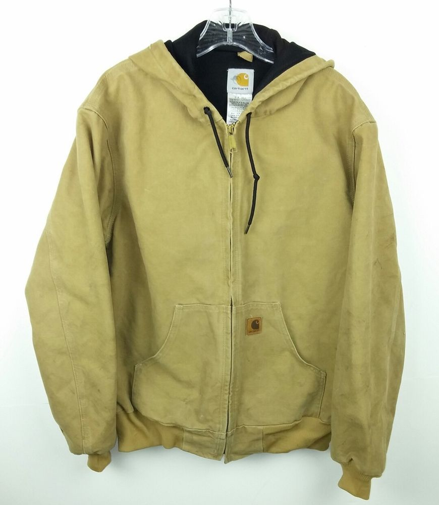 70fb2c6683b Carhartt Men s Medium Jacket Brown J25 CML Sandstone Duck Active Thermal  Lined  Carhartt  BarnJacket