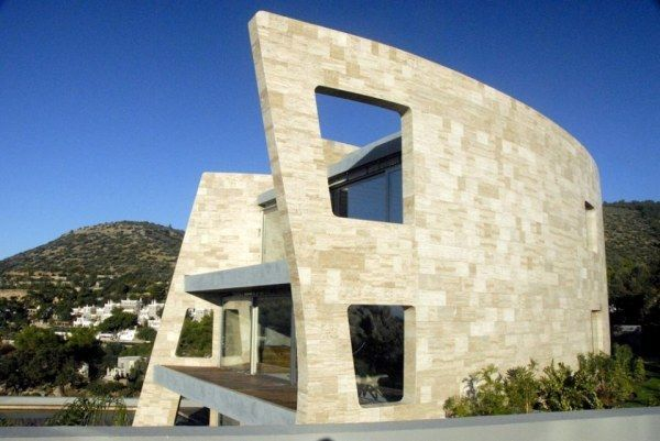 Modern stone buildings google search stone wall space for Modern stone houses architecture