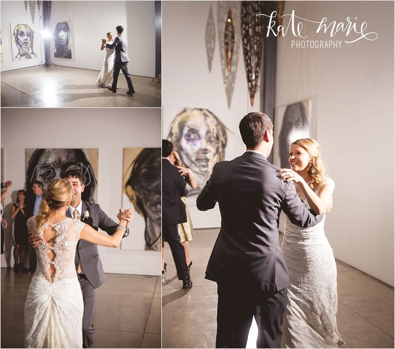 First look wedding photos at Space Gallery Denver