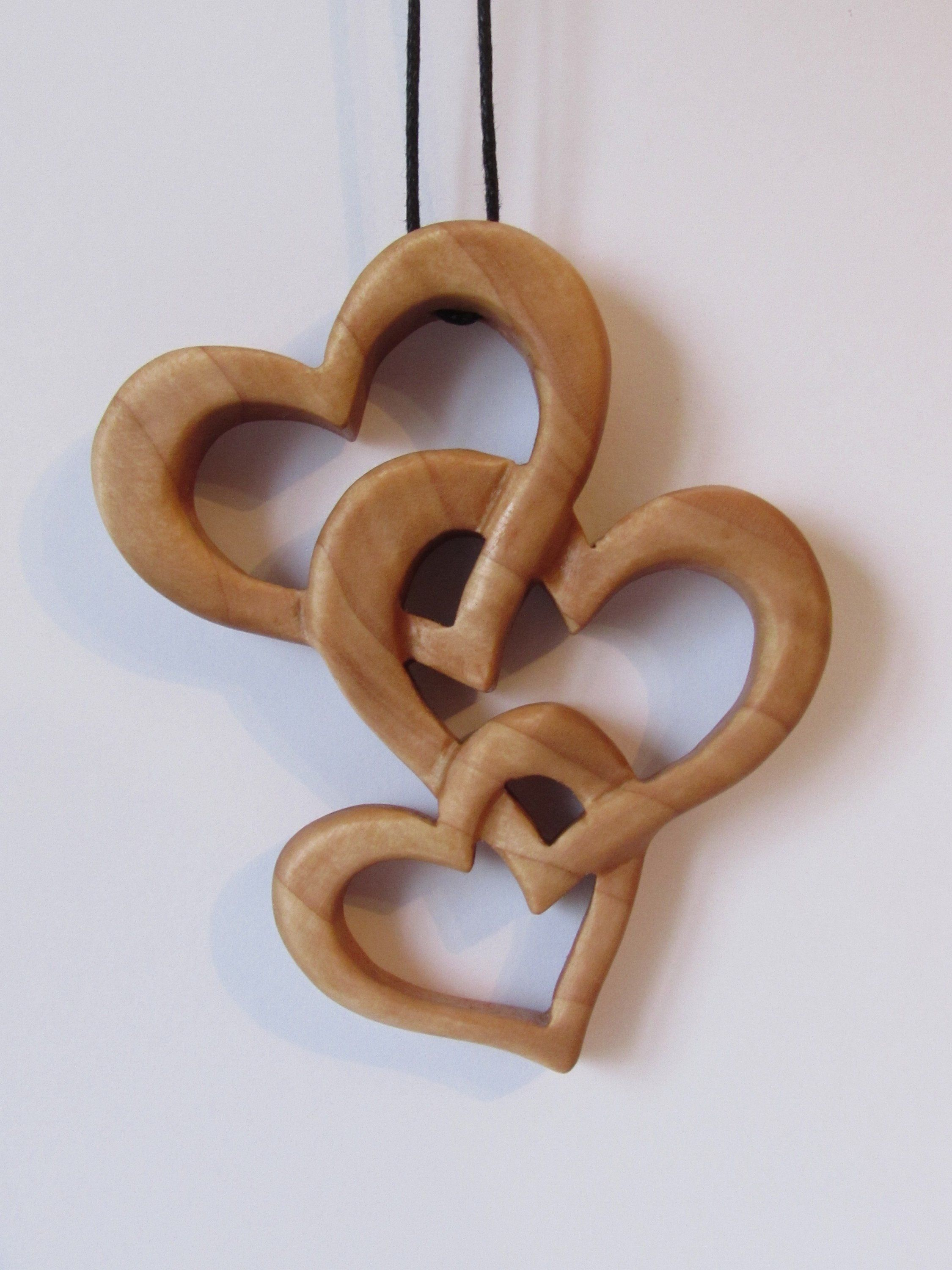 Wooden Heart Necklace Wood Pendant Handmade Gift Valentine Gift Wood Heart Necklace By Handmadelilyr On Etsy Simple Wood Carving Wooden Hearts Wood Pendant