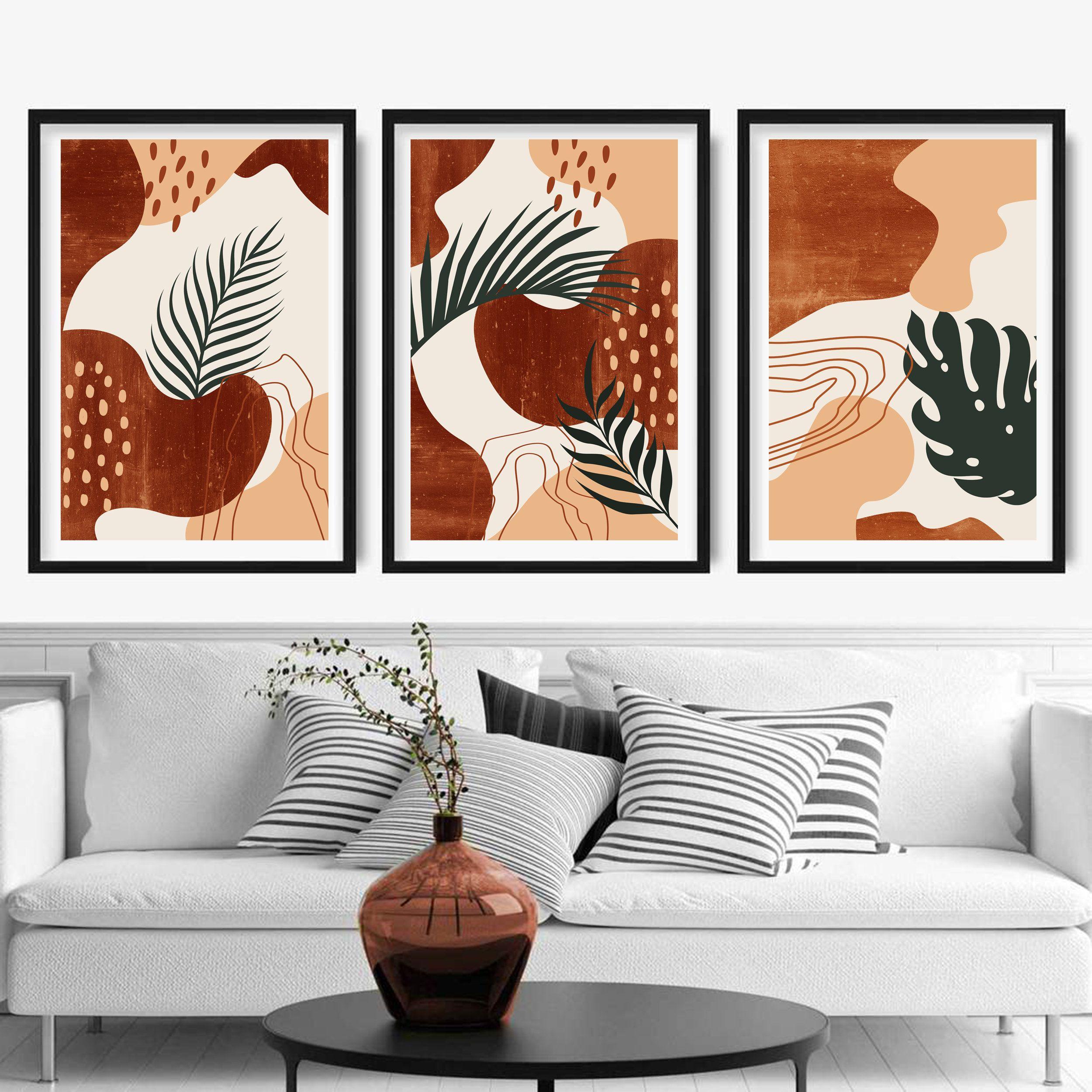 Set of 20 mid century modern art Abstract botanical leaves   Etsy ...