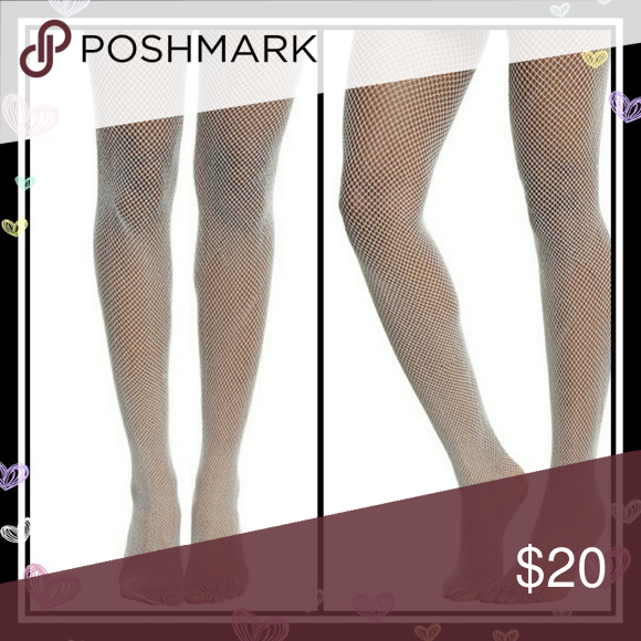c0de2b15fd1bc Blackheart White & Silver Lurex Fishnet Tights Add a little sparkle to  your step with