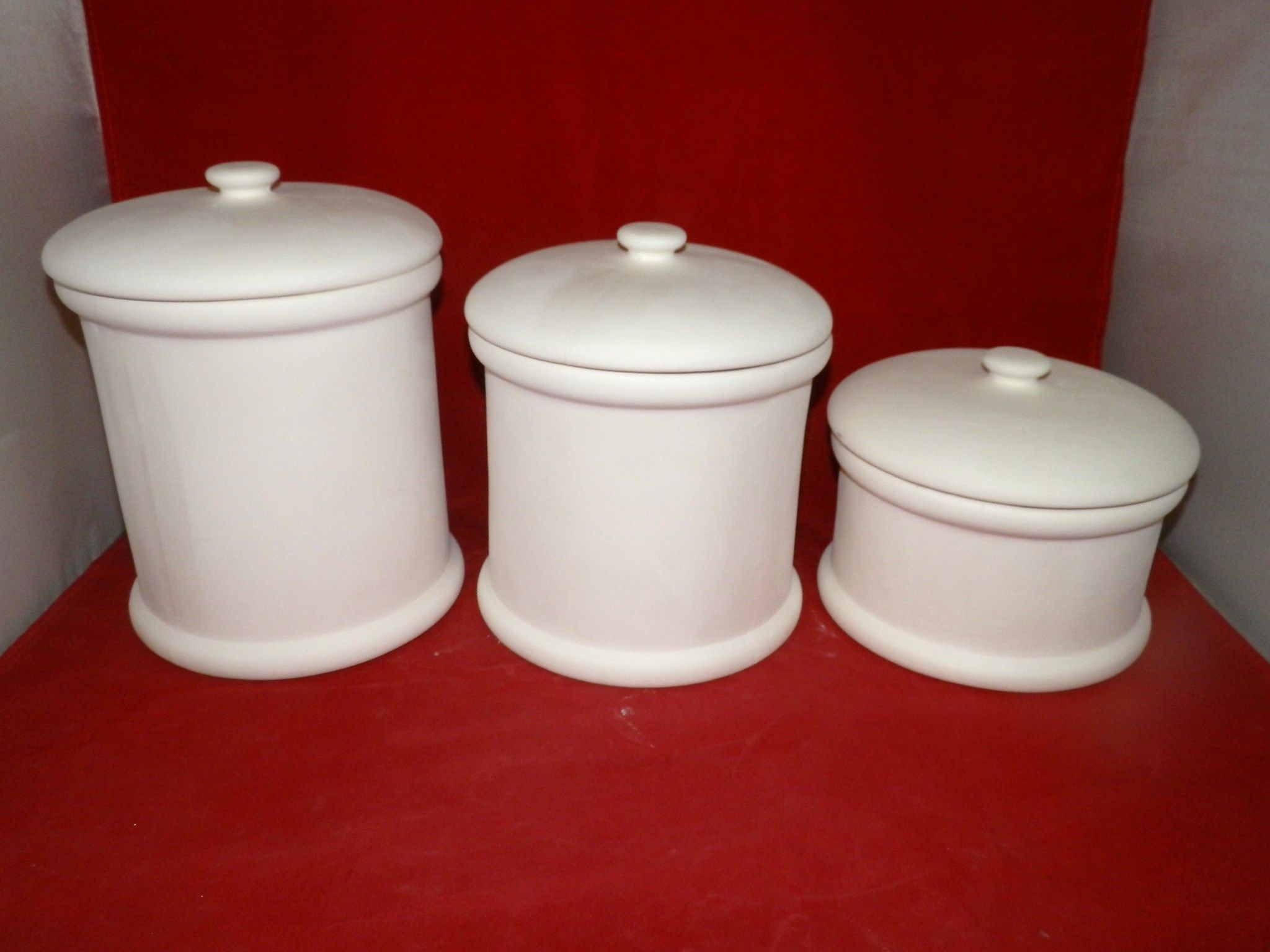 Kitchen Canisters Ceramic Power Strip 6 Piece Plain Canister Set Bisque Ready