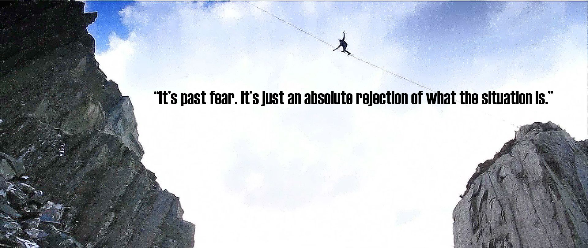 When Fear Meets The Line Sport Quotes Motivational Excellence Quotes Adventure Sports